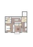 Plan interior de la vivienda Imagen de archivo libre de regalías