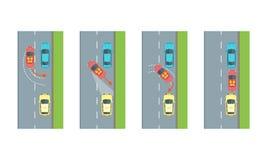 Plan inverse de stationnement de voiture Vecteur Images libres de droits