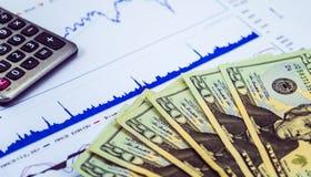 Plan inwestować na rynku papierów wartościowych Fotografia Royalty Free