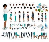 Plan isometrisk kroppsdelkvinnauppsättning Busine vektor illustrationer