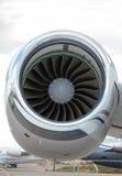 Plan jetmotorpassagerare Arkivbild