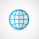 Plan jordklotsymbol geografi vektor illustrationer