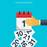 Plan kalendersymbol Datum- och tidsbakgrund Begrepp för Tid ledning stock illustrationer