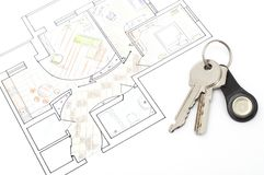 Plan with keys concept Stock Images