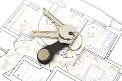 Plan with keys concept Royalty Free Stock Photos