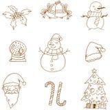 Plan konst för julklottervektor Arkivbild