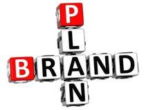 Plan-Kreuzworträtsel der Marken-3D Lizenzfreie Stockfotografie
