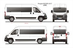 Plan L3H2 des Peugeot-Boxer-Passagiervan-2017 lizenzfreie abbildung