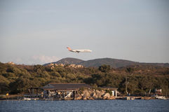 Plan landning Royaltyfria Bilder