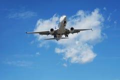 Plan landning arkivfoto