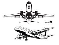 Plan landning, sikten från botten och sida Royaltyfri Fotografi