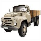 plan lastbil för underlag Royaltyfri Bild