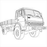 plan lastbil för underlag Arkivbilder