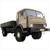 plan lastbil för underlag Royaltyfria Foton