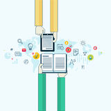 Plan linje designbegrepp för online-utbildning