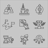 Plan linje symboler för rengöringsdukutveckling vektor illustrationer