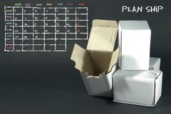 Plan list written with white chalk on blackboard. Royalty Free Stock Images