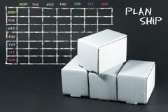 Plan list written with white chalk on blackboard. Royalty Free Stock Image