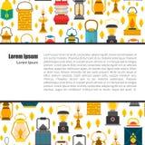 Plan lyktabakgrund för vektor royaltyfri illustrationer