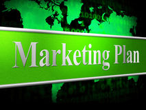 Plan Marketing Shows Scenario Advertising And Proposition Royalty Free Stock Images