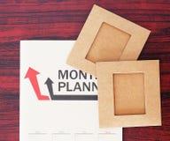 Plan mensuel et papier Photos libres de droits