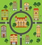 Plan miasteczko Obrazy Royalty Free
