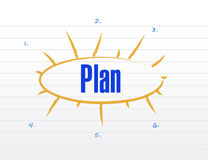 Plan model illustration design Stock Photo