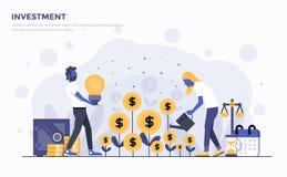 Plan modern begreppsillustration - investering stock illustrationer