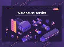 Plan modern design av websitemallen - lagerservice stock illustrationer