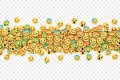 Plan modern Emoji för vektor begreppsmässig bakgrund stock illustrationer