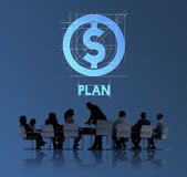 Plan Money Finance Business People Technology Graphic Concept Royalty Free Stock Photography