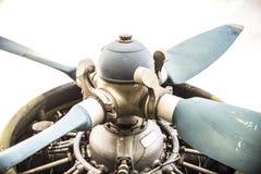 Plan motor med propellern Royaltyfria Foton