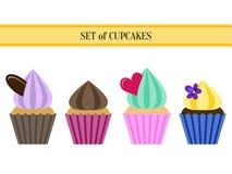 Plan muffinuppsättning Arkivbild