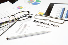 Plan for a new business Royalty Free Stock Photos
