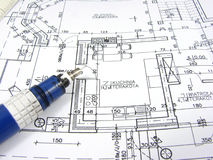 Plan of new house Royalty Free Stock Photos