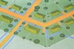 Plan of a New Urbanism Traditional coastal Village Royalty Free Stock Image