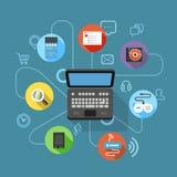 Plan numérique moderne différent de dispositif illustration de vecteur