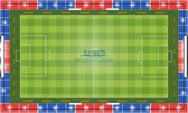 Plan objektdesignuppsättning, fotbollstadion Royaltyfria Foton