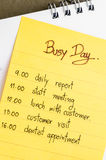 Plan ocupado del día Imágenes de archivo libres de regalías