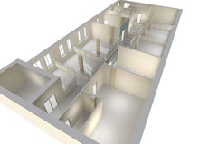Plan of the office premises. Office premises with division on zones Royalty Free Stock Photos