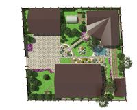 Plan ogród ziemia Fotografia Stock