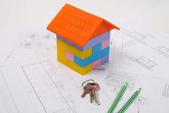 Plan para construir una casa imagenes de archivo