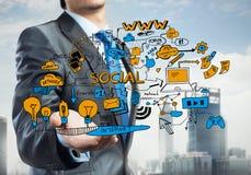 Plan para el negocio electrónico Imagen de archivo