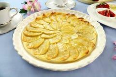 plan pie för äpple Arkivbilder