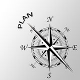 Plan pisać na boku kompas Fotografia Royalty Free