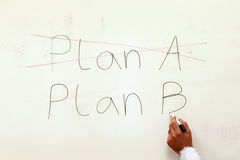 Plan a, plan b. Stock Photo