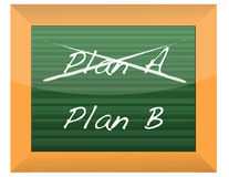 Plan A and Plan B on a blackboard. Design Royalty Free Stock Photo