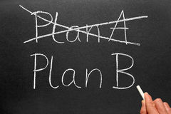 Plan A and Plan B blackboard. Royalty Free Stock Image