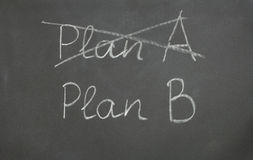 Plan A and Plan B Stock Photography