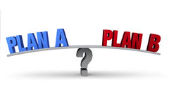 Plan A Or Plan B? Royalty Free Stock Photography